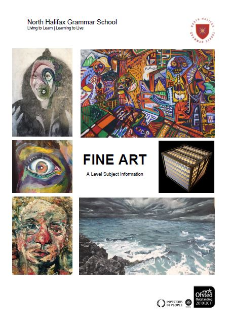 Fine Art A Level Course Flyer, NHGS Sixth Form