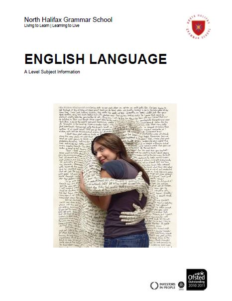 English Language Science A Level Course Flyer, NHGS Sixth Form