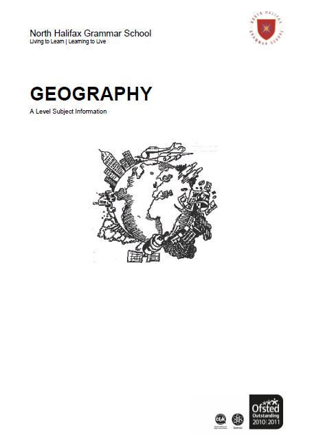 Geography A Level Course Flyer, NHGS Sixth Form
