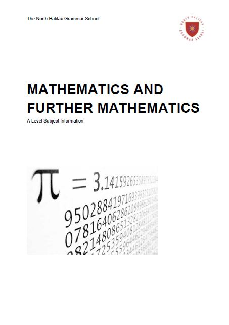 Mathematics and Further Mathematics A Level Course Flyer, NHGS Sixth Form