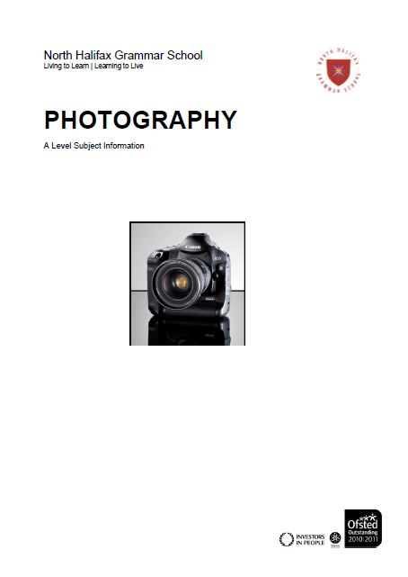 Photography A Level Course Flyer, NHGS Sixth Form