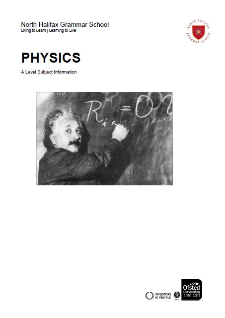 Physics A Level Course Flyer, NHGS Sixth Form