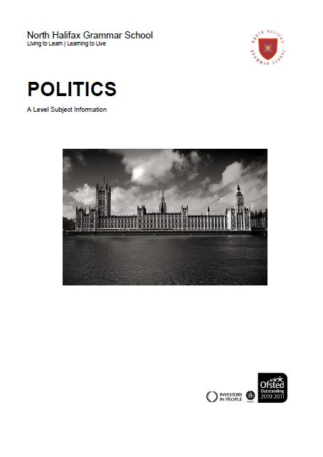 Politics A Level Course Flyer, NHGS Sixth Form